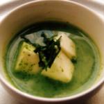 小松菜、長いも、はんぺんのとろっとスープ